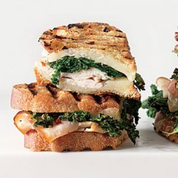Sauteed Greens, Smoked Turkey, and Provolone Panini