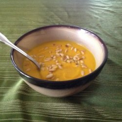 Butternut Squash Soup with Toasted Pine Nuts