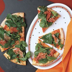 Pizza with Arugula and Prosciutto