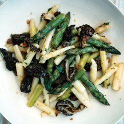 Asparagus with Morels and Tarragon