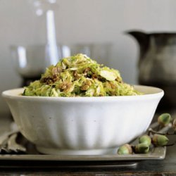 Shredded Brussels Sprouts with Maple Hickory Nuts