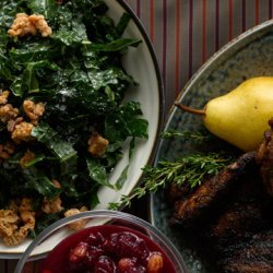 Shredded Kale Salad with Turkey Skin Cracklings