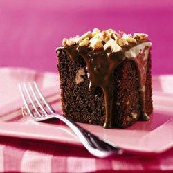 Chocolate-Banana Cake with Walnuts