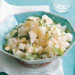 Jicama Salad with Lime Juice and Fresh Mint