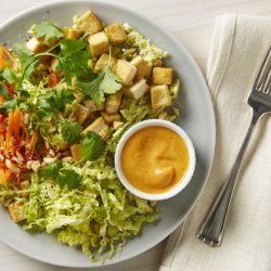 Tofu and Cabbage Salad with Peanut Dressing