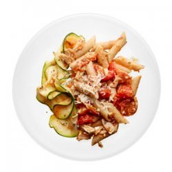 Penne with Tuna and Fresh Tomato Sauce recipe