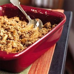 Brandied Caramel-Apple Crumble recipe