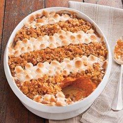 Cornflake, Pecan, and Marshmallow-Topped Sweet Potato Casserole