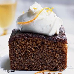 Molasses-Gingerbread Cake with Mascarpone Cream
