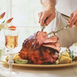 Sweet-Hot Plum-Glazed Ham