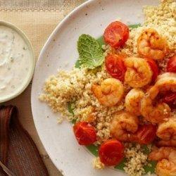 20-Minute Shrimp and Couscous With Yogurt-Hummus Sauce