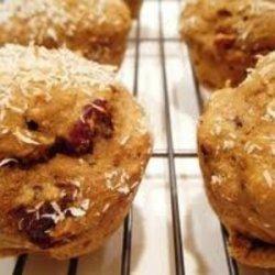Sweet Potato, Cranberry, Coconut Muffins