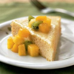 Rum-Soaked Sponge Cake with Tropical Fruit