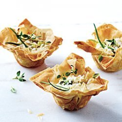 Phyllo Cups with Ricotta, Chèvre, and Thyme