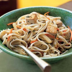 Pan-Fried Udon Noodles with Teriyaki Sauce