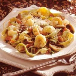 Fettuccine with herbed Shrimp recipe