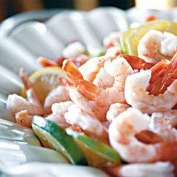 Boiled Shrimp With Remoulade Sauce and Spicy Cocktail Sauce