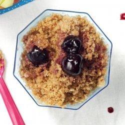 Roasted Cherries with Cocoa-Mocha Granita recipe