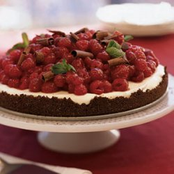 Chocolate Raspberry Tart with White Chocolate Cream recipe