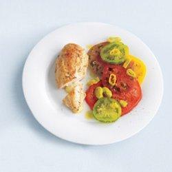 Havarti-Stuffed Chicken With Tomato Salad recipe