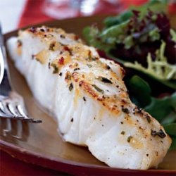Broiled Sea Bass with Pineapple-Chili-Basil Glaze recipe