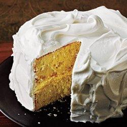 Vanilla Cake with Italian Meringue Frosting