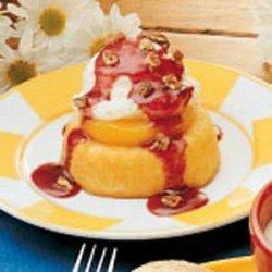 Peach Melba Dessert