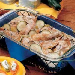 Chicken with Cucumbers