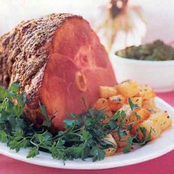 Spice-Crusted Ham with Maple Mustard Sauce recipe