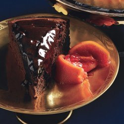 Orange-Scented Bittersweet Chocolate Cake with Candied Blood Orange Compote