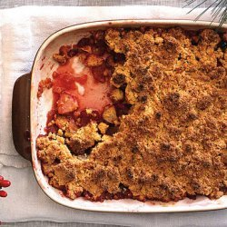 Apple-Cranberry Crisp with Polenta Streusel Topping recipe