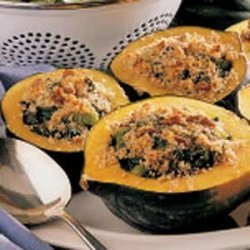 Acorn Squash with Spinach Stuffing