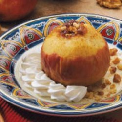Date-Filled Baked Apple