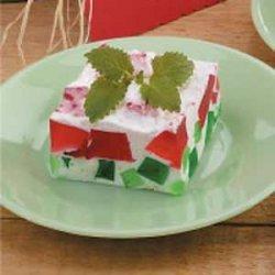Watermelon Gelatin Dessert