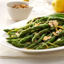 Lemon Almond Asparagus