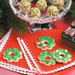 Holiday Wreath Cookies recipe