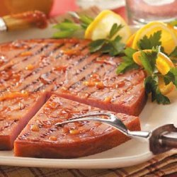 Orange Barbecued Ham