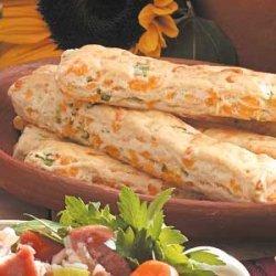 Cheesy Onion Breadsticks