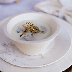 Oyster Soup with Frizzled Leeks recipe
