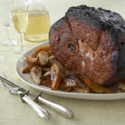 Baked Smoked Ham with Mango recipe