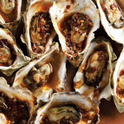 Wood-Grilled Oysters in Chipotle Vinaigrette recipe