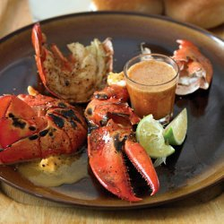 Dr. BBQ's Lobster with Chili-Lime Butter recipe