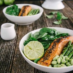 Salmon Salad with Beans