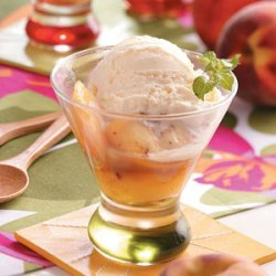 Grilled Peaches with Brandy Sauce