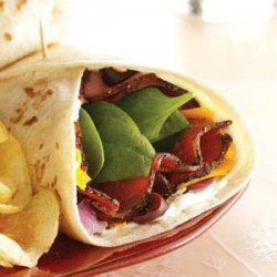 Spinach Pastrami Wraps