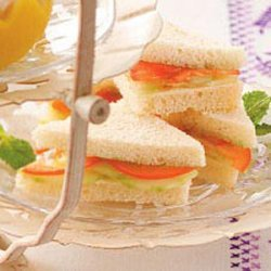 Mint Cucumber Sandwiches