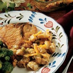 Pork Chops with Stuffing