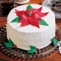 White Chocolate Holiday Cake