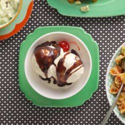 Fast Fudge Sundaes