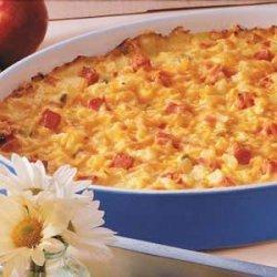 Ham N Cheese Potato Bake